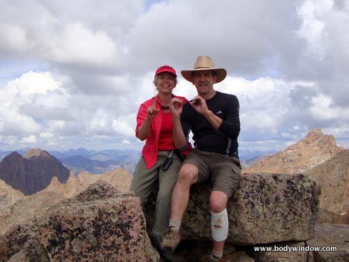 100 mountains, reached on Jupiter mountain summit, San Juans, Colorado