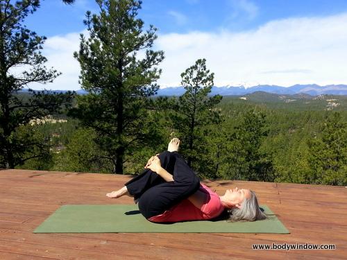 Yin Yoga Eye of the Needle Pose