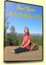 Meditation, Heart Opener, DVD Cover with Supported Fish Pose