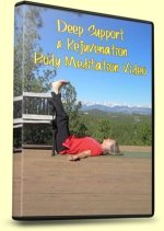 Meditation, Deep Support and Rejuvination, DVD Cover with Legs Up the Wall Yoga Pose