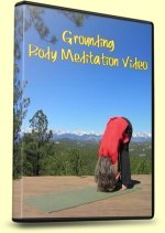 Meditation, Grounding, DVD Cover with the Forward Fold Pose