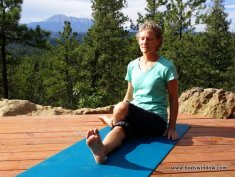 Lateral Half Shoelace Pose Starting Position in Yin Yoga