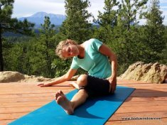 Lateral Half Shoelace Pose in Yin Yoga