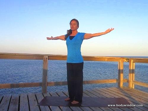 Yoga Standing Twist, Center