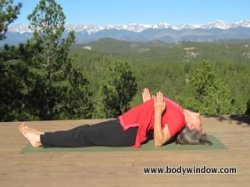 Fish Pose using your elbows.