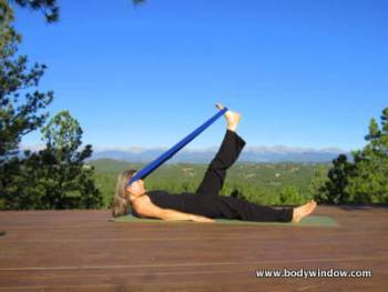 Hammock Pose with Yoga Strap