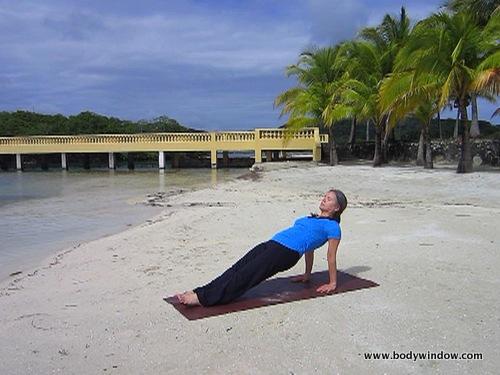 Reverse Plank Pose, Roatan, Honduras
