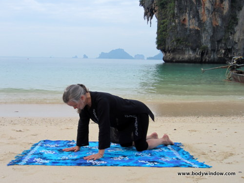 Table Top Pose on Pranang Beach, Railay, Thailand