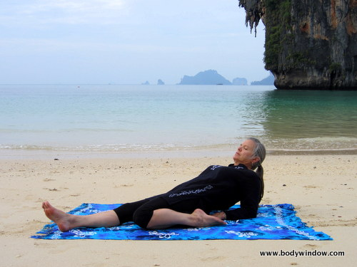 Yin Yoga, Half-Saddle Pose, Halfway Position