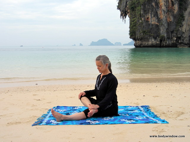 Half Square Pose, Starting Position, Pranang Beach, Railay, Thailand