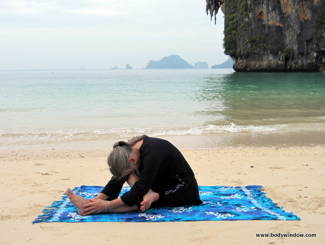 Half Square Pose, Pranang Beach, Railay, Thailand