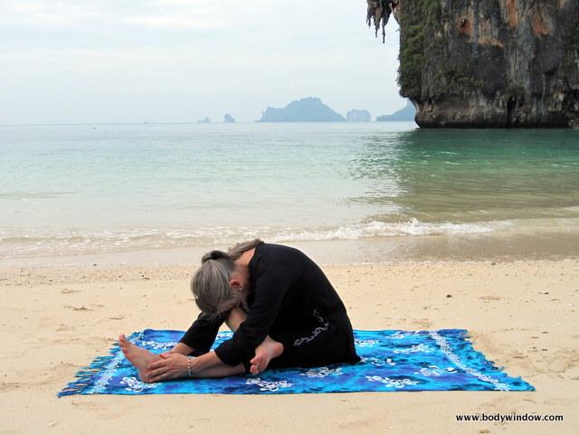 Half Square Pose, Pranang Beach, Railay, Thailand
