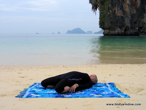 Yin Yoga, Saddle Pose, Full Lying Position