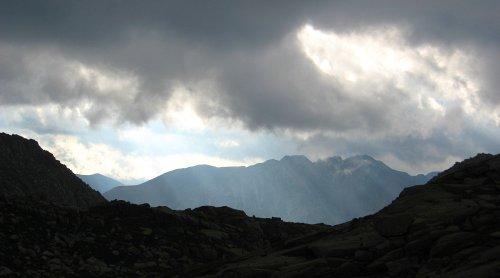 Storm brewing over the San Juan Mountains, Colorado