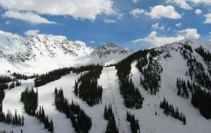 Arapahoe Basin Ski Area, from Loveland Pass