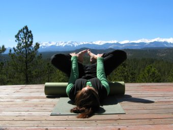 Bound Angle Pose on a Foam Roller