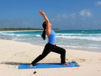 Crescent Pose at Playa del Carmen, Mexic