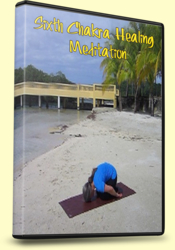 6th Chakra Healing Meditation, Child's Pose with Third Eye to Ground