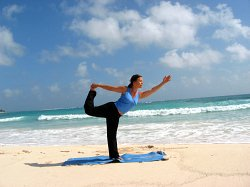 Yoga Dancer's Pose, Xpuha Beach, Playa del Carmen, Mexic