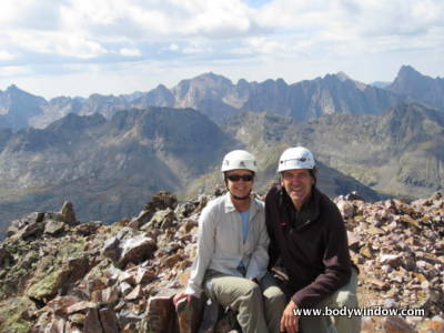 Rich and Elle Bieling on Vestal Peak Summit