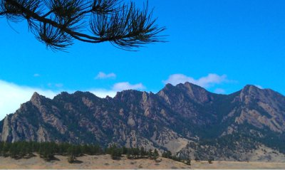 The Flatirons in Boulder, Colorado
