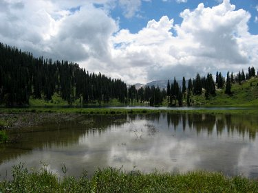 Geneva Lake, near Snowmass and Hagerman Peaks, CO