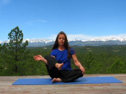 Half Flowering Lotus Pose, Right Side