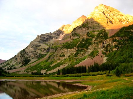 Crater Lake in the Alpenglow, Maroon Bells, Aspen, CO