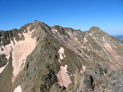 Mount Wilson and El Diente Peaks from the summit of Gladstone Peak, Colorado