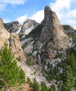 Sandia Mountain View from the La Luz Trail, NM