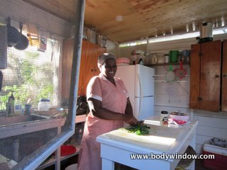 Negril Yoga Center kitchen, Negril Jamaica