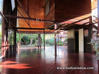 The yoga hall at the Negril Yoga Center, Negril Jamaica