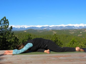 Modified Pigeon Pose with Forward Bend