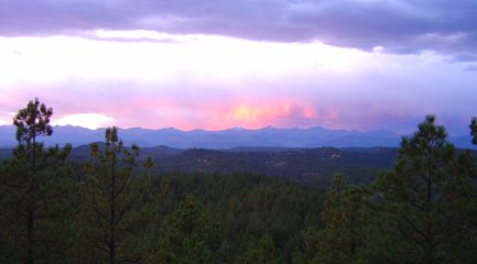 sunset over the Sangre de Cristo Mountains, southern Colorad
