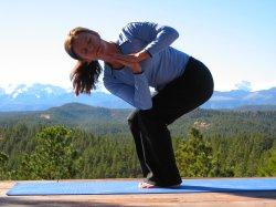 Revolved Fierce Pose, yoga pose