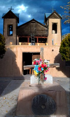 The chapel at the Santuario de Chimayo, Chimayo, NM