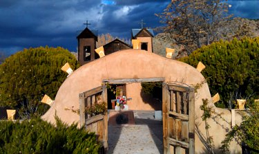 Gate into El Santuario de Chimayo, Santa Fe, NM