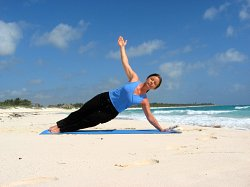 Side Plank Pose, Xpuha Beach, Playa del Carmen, Mexico