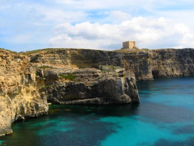 St. Mary's Tower, Blue Lagoon, Comino, Malta