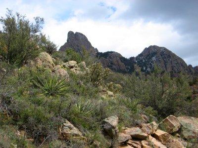 Sandia Mountains, New Mexico, from the La Luz Trail