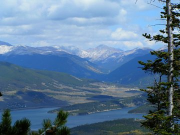 Dillon Reservoir from Peak One, Summit County, Colorado