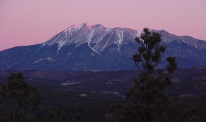 Sunrise over West Spanish Peak, CO