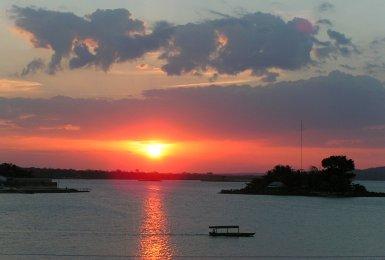 Lake Peten Itza, Guatemala, Sunset