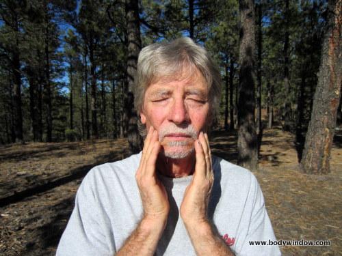 Massaging the TMJ