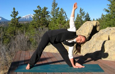 Triangle Yoga Pose, E. Spanish Peak view, Colorado