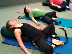 Bound Angle Pose with Yoga Strap