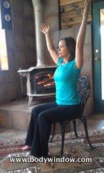 Chair Yoga, arms up overhead.