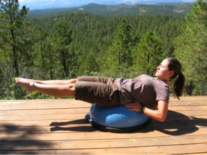 Bosu Balance Trainer, back lying extension