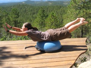 Bosu Ball, front lying extension