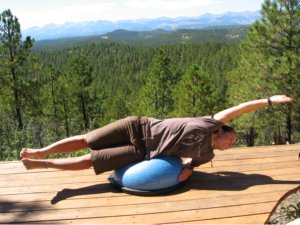 Bosu Ball, side lying extension